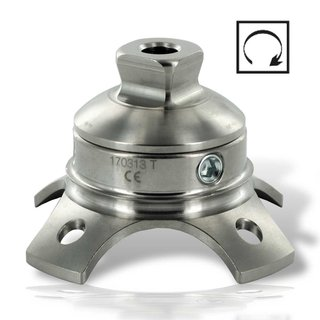 2W044-1 Lamination anchor with pyramide, rotatable, TITANIUM